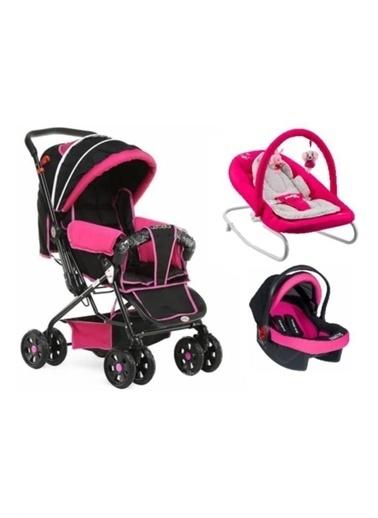 Rival Lucido Çift Yönlü Bebek Arabası + Taşıma Puset + Ev Tipi Anakucağı Fuşya